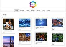 Art Supplies Store Website