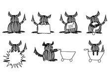 Dog School Icons