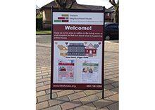 Kitsilano Neighbourhood House Sandwich Sign