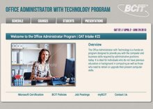 Office Administrator with Technology Program Website