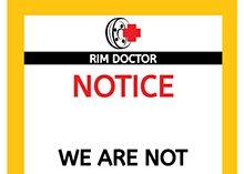 Rim Doctor Indoor Signs